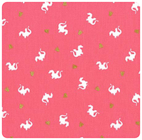Magic! - Baby Dragon in Pink - Fat Quarter